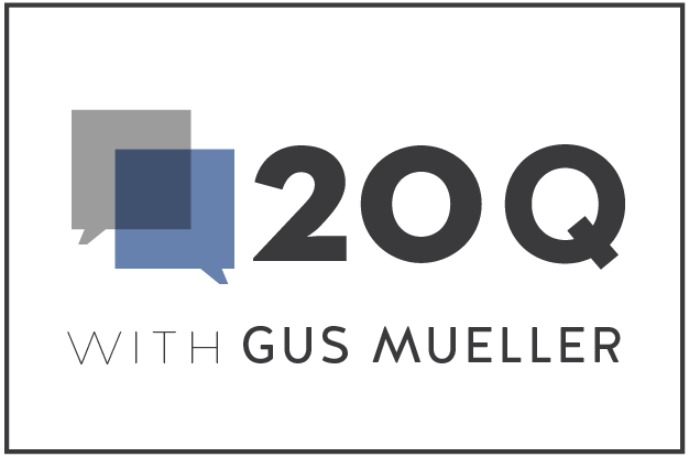 20Q with Gus Mueller logo