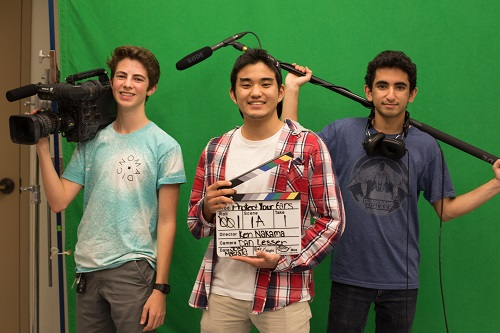 Dan Lesser, Ken Nakama, and Joshua Maslaki of Woddbridge High School, winners of 2015 Listen Carefully video contest