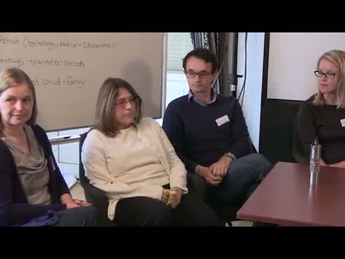Screenshot from video showing the group's idea for meeting with parents to identify questions and concerns