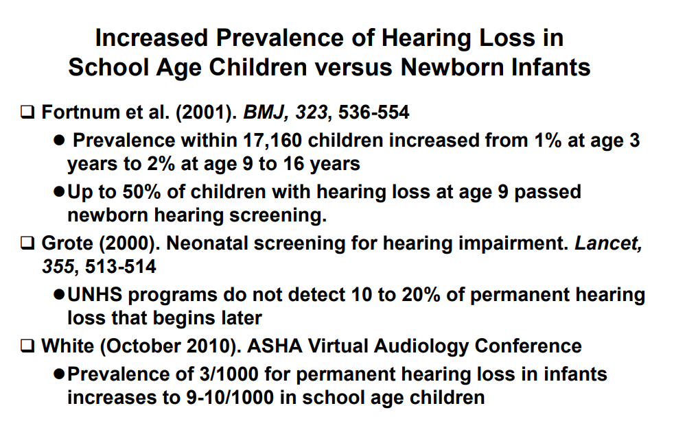 Pediatricians Call For Universal >> The Important Role Of Otoacoustic Emissions Oaes In Preschool