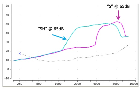 The S and SH input stimulus spectra