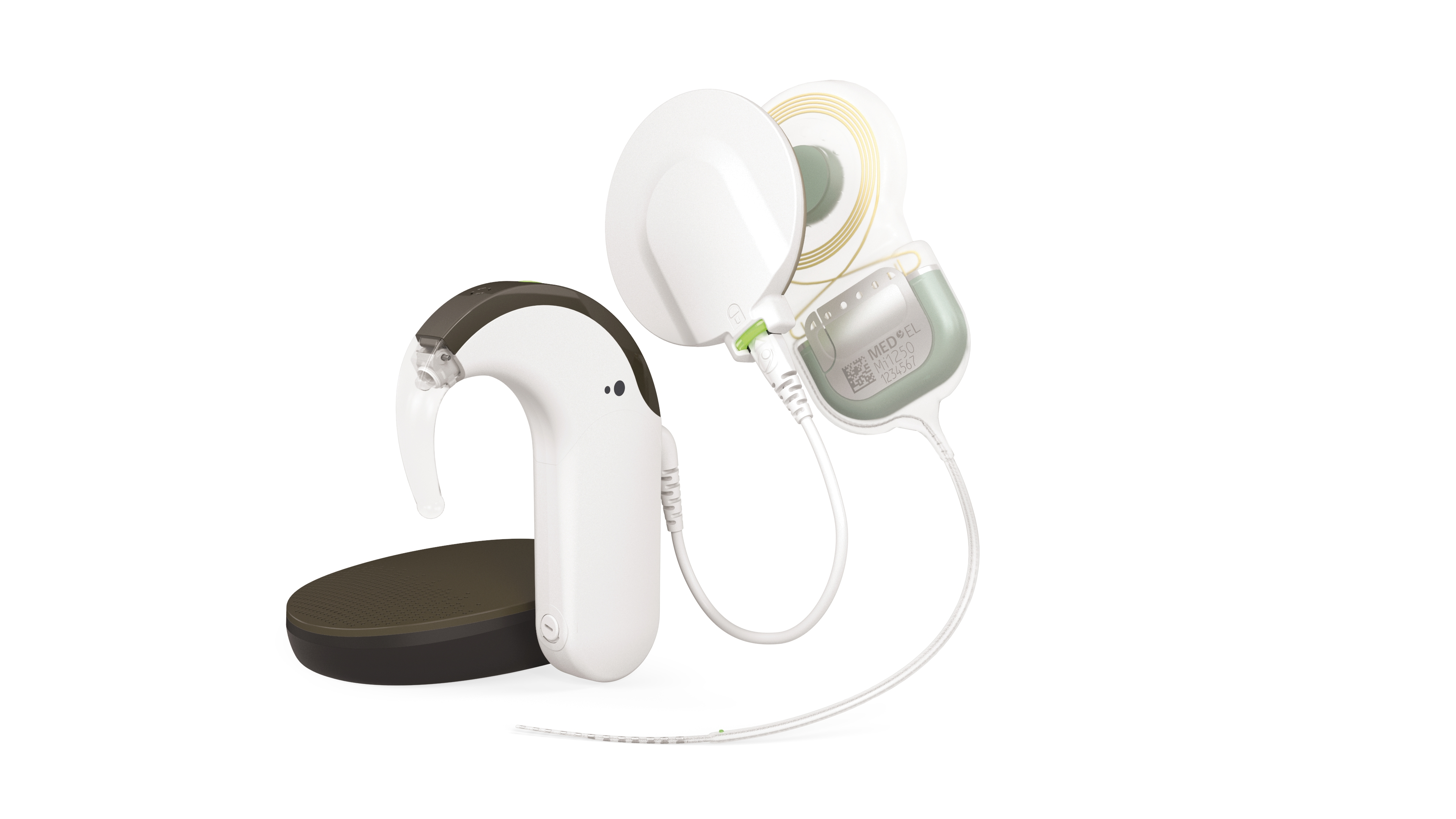 MED-EL's SYNCHRONY 2 cochlear implant with both the SONNET 2 and RONDO 3 processors